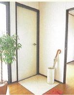 玄関と化粧フロアの床
