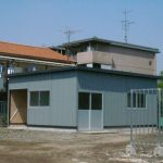 内装付も可能で簡単組立・早い施工・お求め易い価格のガリバリューム鋼板プレハブ