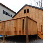 1棟に8人も宿泊施設出来るバンガローキットハウス ・<<ペンタゴン>>  ( 6 & 8帖 )  建築確認不要– 置くだけ設置可能・