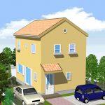 スペース有効利用のプロバンス風新築住宅 延べ3LDK+ロフト付